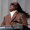 Stevie Wonder performs at the Obama Inauguration Celebration on the steps of the Lincoln Memorial, Sunday, January 18, 2009. (Chuck Liddy/Raleigh News & Observer/MCT)