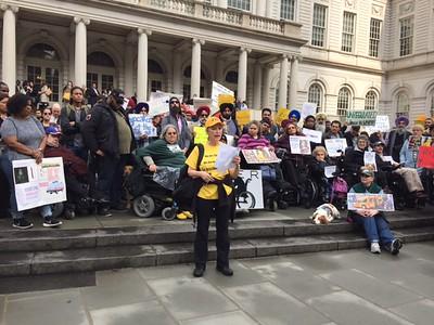 Yellow Cab Demonstration City Hall 2017