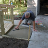 Dan - finishing the step at front of house.