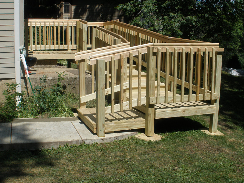 Completed ramp at back of house