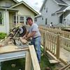 Roger cutting hand rail