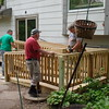Completed deck - sanding