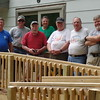 Work crew and owner - at end of the project
