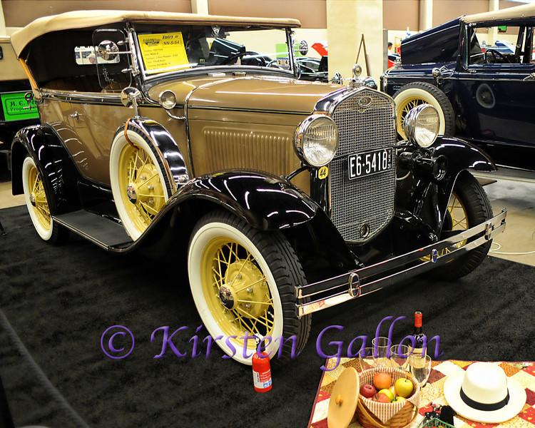 YELLOW ROSE CAR SHOW 2013<br /> 1931 FORD MODEL A, 2 DOOR PHAETON