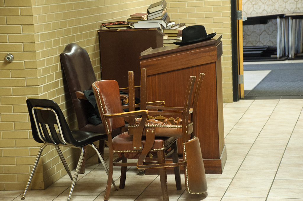 The Rosh Hayeshiva's furniture had to be moved out too
