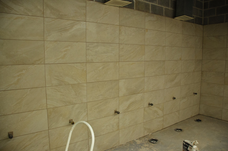 bathroom walls have been grouted. tonight the floor is going in