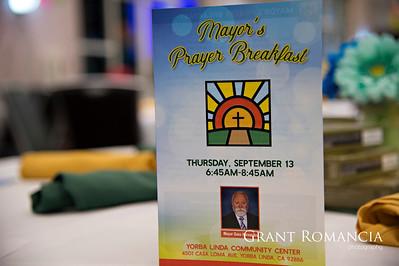 Yorba Linda Mayors Prayer Breakfast event photography