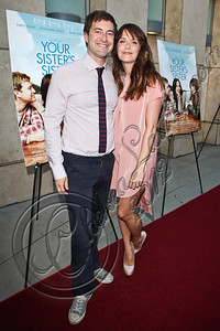 "HOLLYWOOD, CA - JUNE 11:  Actors Mark Duplass (L) and Katie Aselton arrive at the Los Angeles premiere of ""Your Sister's Sister"" at ArcLight Cinemas on June 11, 2012 in Hollywood, California.  (Photo by Chelsea Lauren/FilmMagic)"