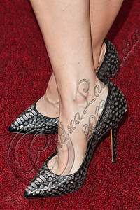 "HOLLYWOOD, CA - JUNE 11:  Actress Rosemarie DeWitt (shoe detail) arrives at the Los Angeles premiere of ""Your Sister's Sister"" at ArcLight Cinemas on June 11, 2012 in Hollywood, California.  (Photo by Chelsea Lauren/FilmMagic)"