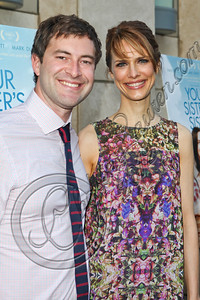 "HOLLYWOOD, CA - JUNE 11:  Actor Mark Duplass (L) and director Lynn Shelton arrive at the Los Angeles premiere of ""Your Sister's Sister"" at ArcLight Cinemas on June 11, 2012 in Hollywood, California.  (Photo by Chelsea Lauren/FilmMagic)"