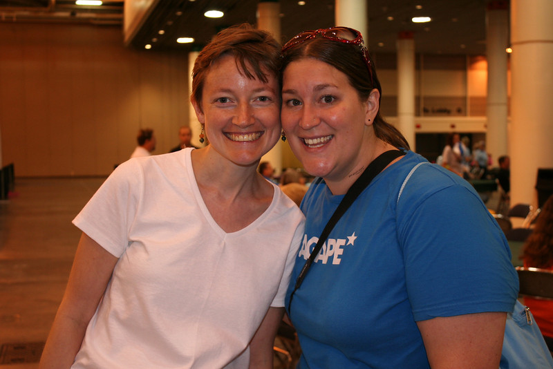 Emma (left), Women of the ELCA churchwide staff member, was united with college friend, Mary Beth, a youth minister from Tennessee.