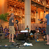 Yes, some musicians perform barefoot.