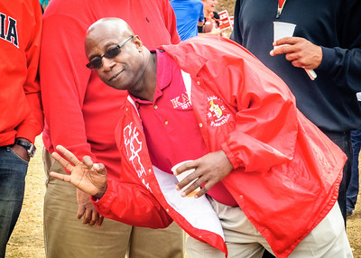 Alvin Lawrenece Zi Nupe  at UGA Homecomong Tailgating Party
