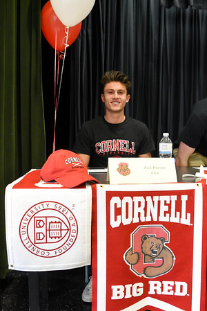 Zach signing with Cornell