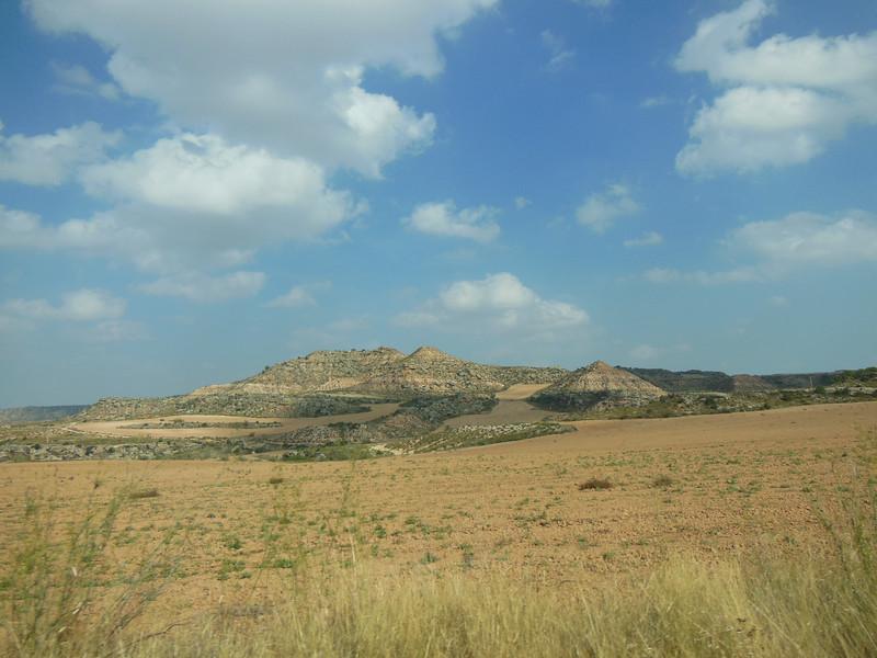 The landscape surrounding Motorland Aragon.