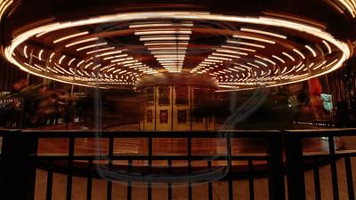 The carousel, winding down.