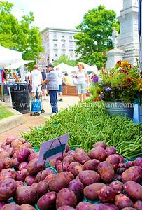 Potatoes and flowers Easton Farmers' Market Zucchini 500, 2014
