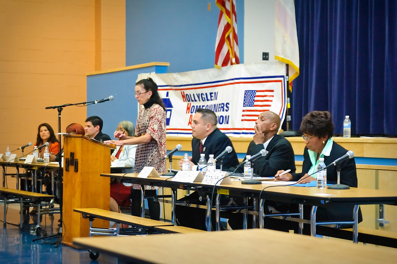 City Council Candidates from Hawthorne, CA participate in a forum held at Dana Middle School, sponsored by the Hollyglen Homeowners Association