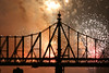 July 4th, 2006, Macy's Fireworks, East River, taken from platform near Charles Schurz Park