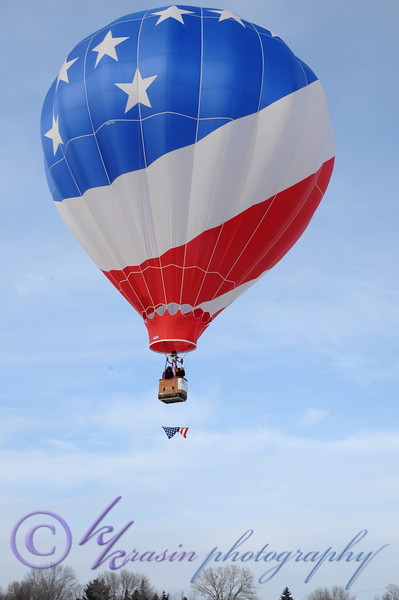 The first balloon takes off