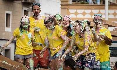 Javea Festival Spain, Meringue throwing