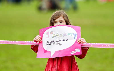 Inverness Race For Life, personal messages.  Picture: Paul Campbell.