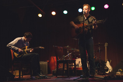 Ben and Galen Ballinger plays at the River City Saloon in Hood River, Oregon on Jan 2nd, 2015
