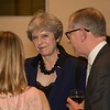 Theresa May attends the MS Society dinner