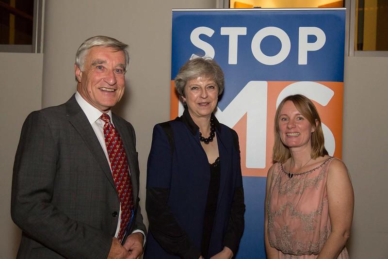 PM Theresa May at the MS Society dinner