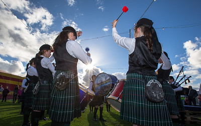 Ullapool Pipe Band at  Loopallu festival in Ullapool.    Picture: Paul Campbell.