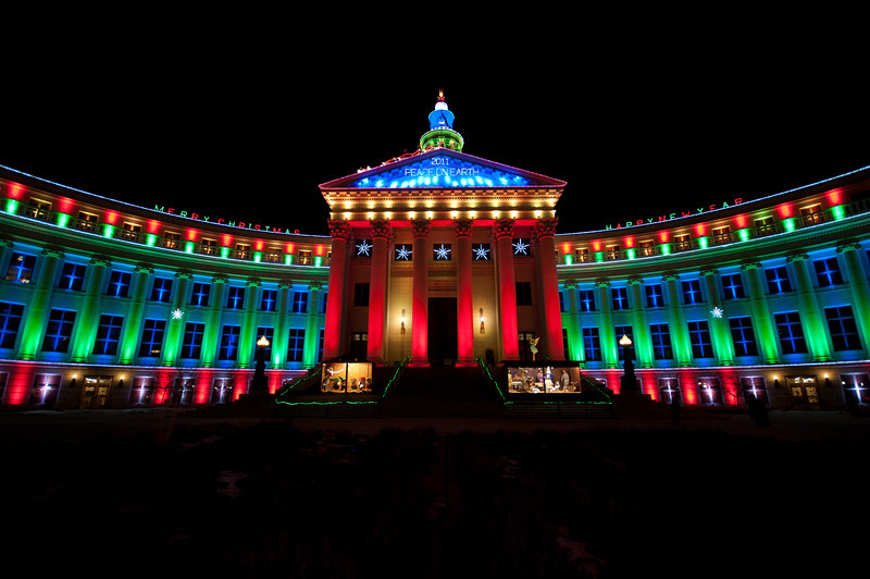 279 - City and County Building at Christmas, Denver