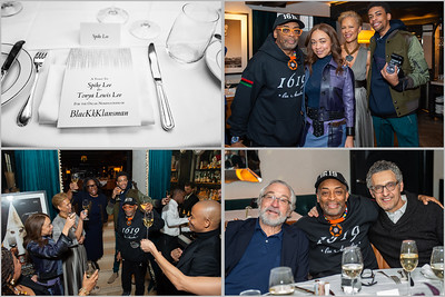 Spike Lee Oscar Private Party with family with Robert De Niro