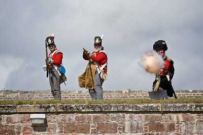 A demonstration of fire power from the various acts .  Celebration of the Centuries at Fort George, Inverness.   Picture: Paul Campbell