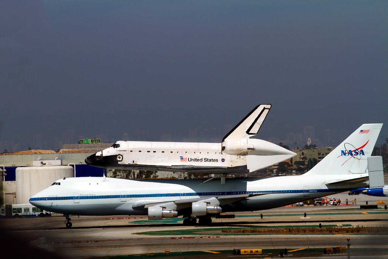 Final Landing of the endeavor.  I was invited by the City of El Segundo to capture the fly by's and final landing of the Space Shuttle Endeavor. Here I have captured her final landing at LAX.