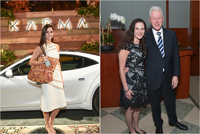 KARMA CAR PROMOTIONAL EVENT WITH PRES Bill Clinton