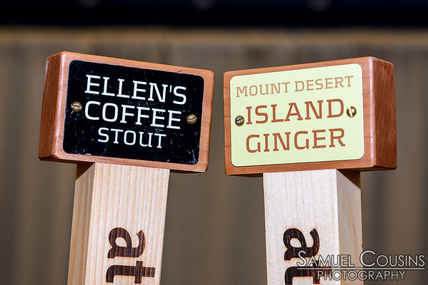 Atlantic Brewing beer taps: Ellen's Coffee Stout & Mount Desert Island Ginger