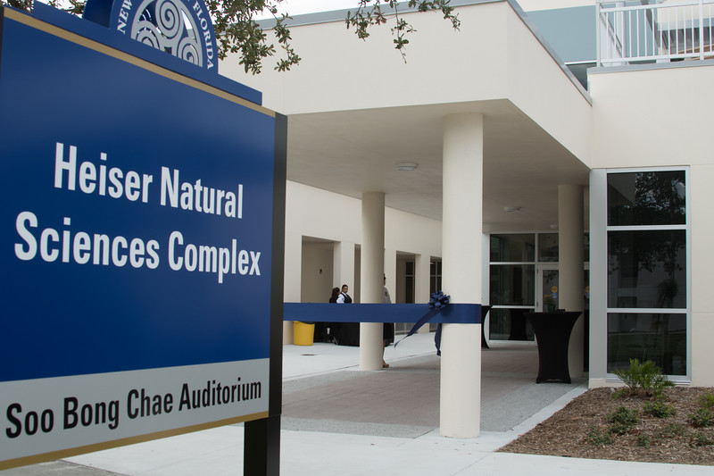 The addition to the Heiser Natural Sciences Complex is completed in 2017.