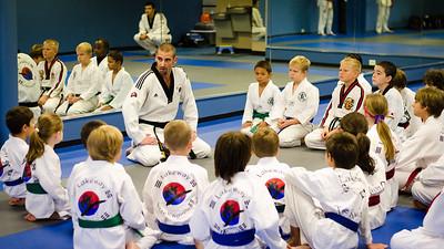 Master Chris addresses the students