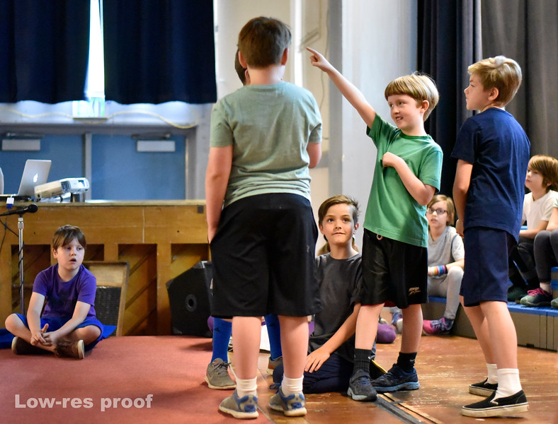 "Oregon Humanities Magazine - Jana and Mic Crenshaw work with 3rd graders at Sunnyside Environmental School rehearsing a play about the Portland history and themes of race equality Wednesday 5/25/17. © 2017 Fred Joe /  <a href=""http://www.fredjoephoto.com"">http://www.fredjoephoto.com</a>"