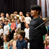 """Oregon Humanities Magazine - Jana and Mic Crenshaw work with 3rd graders at Sunnyside Environmental School rehearsing a play about the Portland history and themes of race equality Wednesday 5/25/17. © 2017 Fred Joe /  <a href=""""http://www.fredjoephoto.com"""">http://www.fredjoephoto.com</a>"""