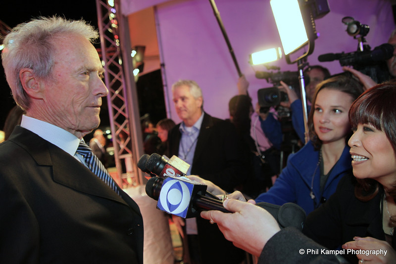 Clint Eastwood on the red carpet (CA Hall of Fame)
