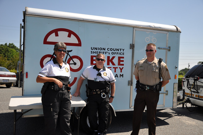 Union County Sheriff's Office on hand for Bike Safety demonstrations.