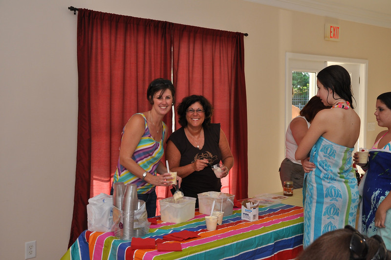 Lorayn and Laura of the CO Social Beautification Committee dishing out the ice cream!
