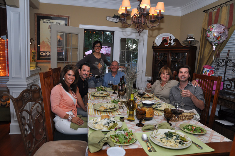 """La famiglia-mangare! My sister Rose has been """"my mom"""" since my mom passed when I was young. I am grateful to help prepare this celebration in honor of my mom and my sisters."""