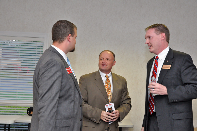 Union County Chamber Board Member of Presbyterian Healthcare, speak with Todd Johnson and Jonathan Thomas.