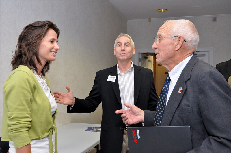 Larry Hook, UCCOC Board Member and Kim Karpovich, Director of Events UCCOC speak with candidate.