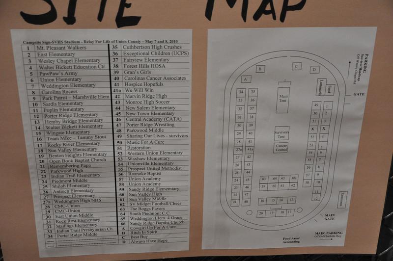 Site map of Participants