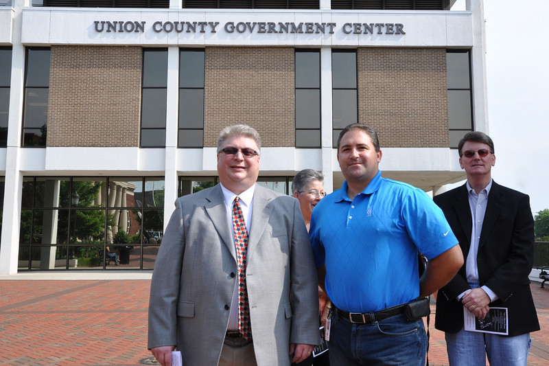 Monroe City Manager Wayne Herron and Monroe Communications Officer Peter Jovanec