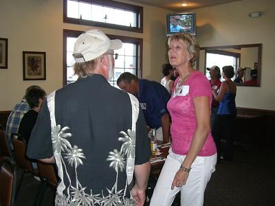 35th reunion at Triple R in Kimball, Aug. 21, 2010 Virgil Truenow, Sharon (Scheeler) Torberg