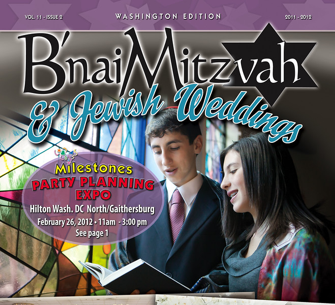 Jarred + Alexa on Cover of B'nai Mitzvah & Jewish Wedding Magazine